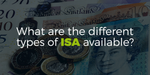 What are the different types of ISA available?