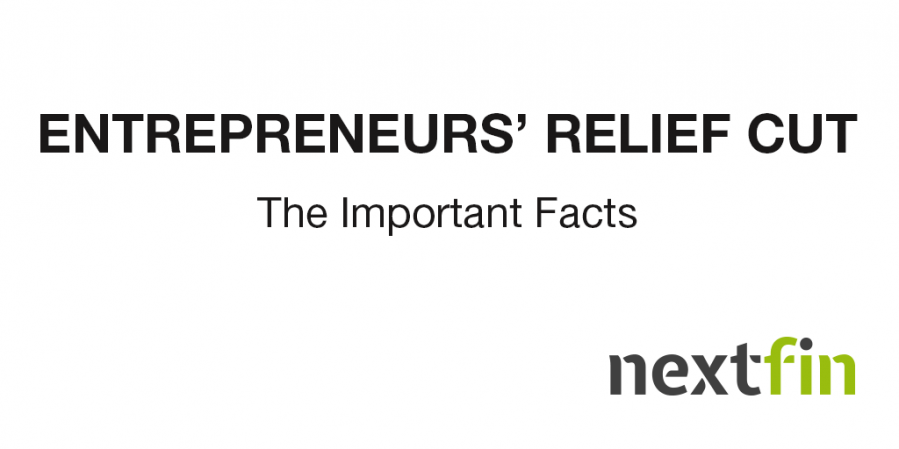 Entrepreneurs' Relief Cut: The Important Facts