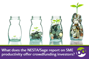 What does the NESTA/Sage report on SME productivity offer crowdfunding investors?